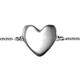 Personalised Sterling Silver Sweet Heart Bracelet
