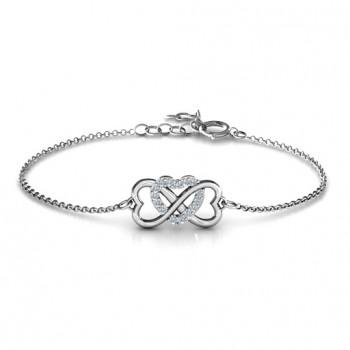 Personalised Triple Heart Infinity Bracelet