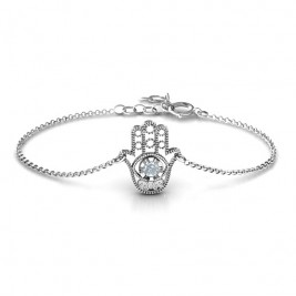 Personalised Upright Hamsa Bracelet