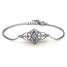 Personalised Vintage Star of David Bracelet