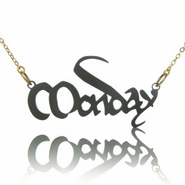 Magna Carta Style Acrylic Name Necklace
