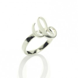 Personalised Carrie Initial Letter Ring Sterling Silver