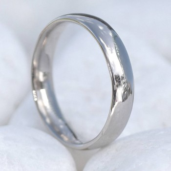 18ct Gold Wedding Ring, 4mm Comfort Fit