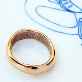 18ct Rose Gold Bespoke Fingerprint Wedding Ring