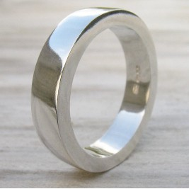 Handmade Chunky Mens Silver Ring