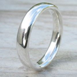 Handmade Comfort Fit Silver Ring