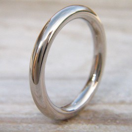 Mens Wedding Ring In 18ct White Gold
