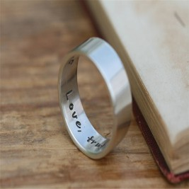 Pure And Simple Personalised Mens Ring