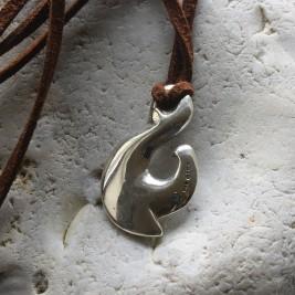 Maori Silver Fish Hook Necklace