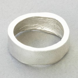 Sterling Silver Bespoke Fingerprint Ring