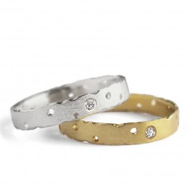 18Ct Gold And White Gold Ring Set