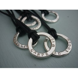 Unisex Silver Halo Necklace