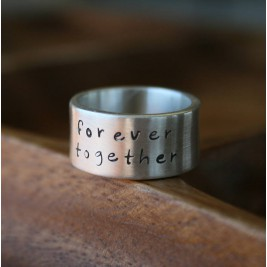 Personalised Between Us Mens Silver Ring