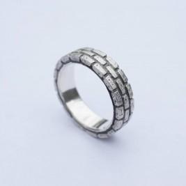 Brick Silver Ring
