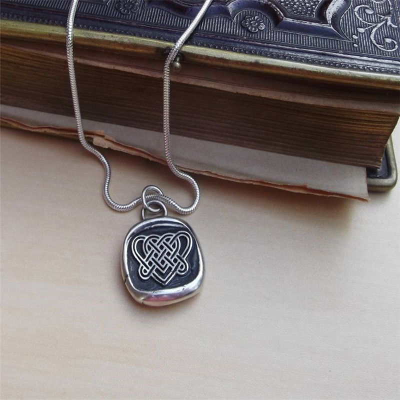 Celtic love knot necklace aloadofball Image collections