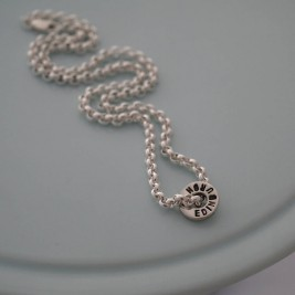Chunky Silver Washer Necklace