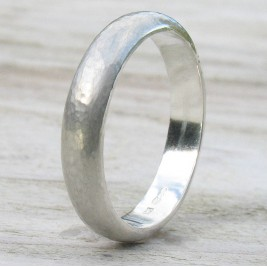 Handmade Sterling Silver Hammered Ring