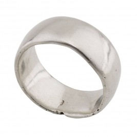 Sterling Silver Domed Sand Cast Wedding Ring