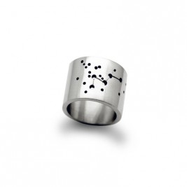 Personalised Wide Constellation Ring