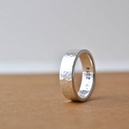 Hammered Silver Hidden Message Ring