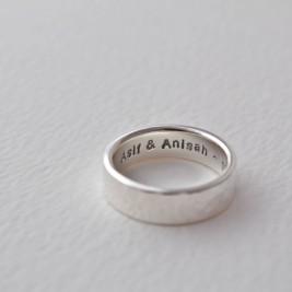 Hammered Silver Hidden Message Ring