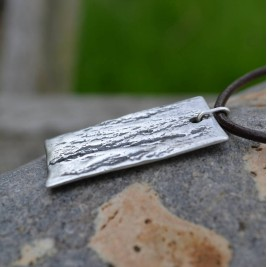 Handmade Silver Dog Tag Necklace