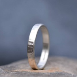 Handmade Silver Rippled Wedding Ring