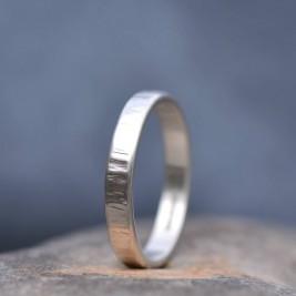 Handmade Silver Rippled Wedding Ring