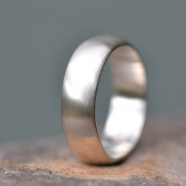 Handmade Silver Satin Finish Wedding Ring