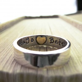 Heart Imprint Personalised Ring