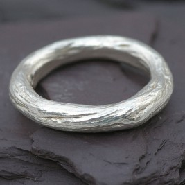Gents Silver Rose Root Ring