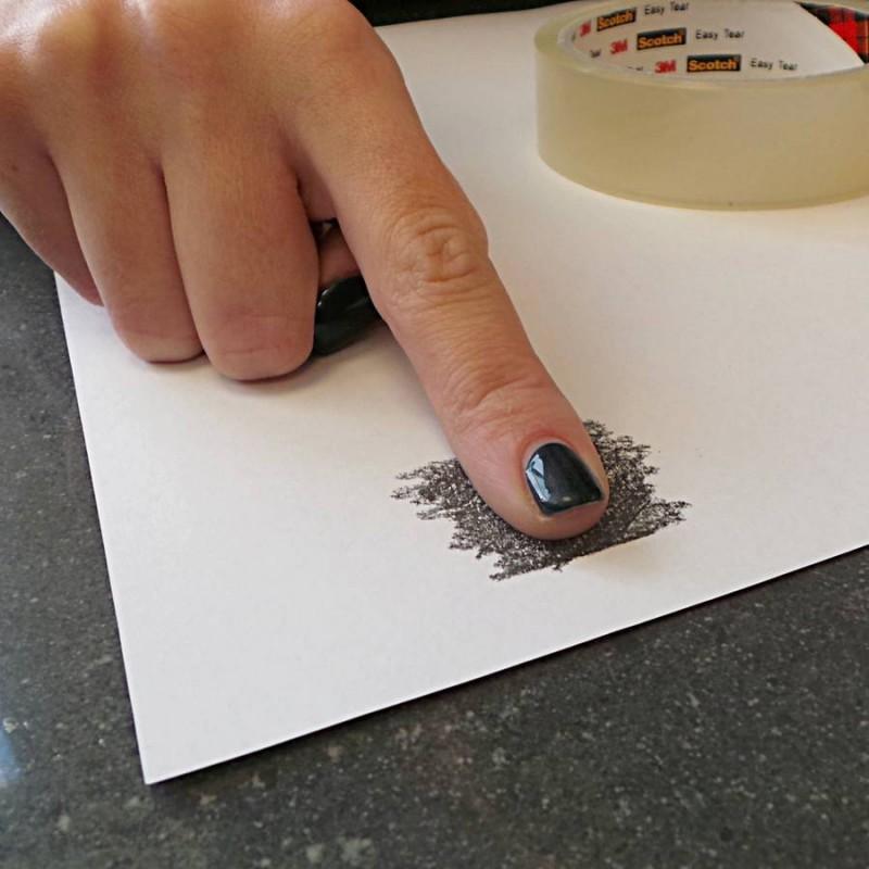 fingerprint jewellery   inked fingerprint dog tag necklace
