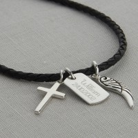 Boys Personalised Karma Dog Tag Necklace