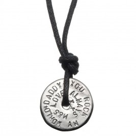 Mens Personalised Love Bead Necklace