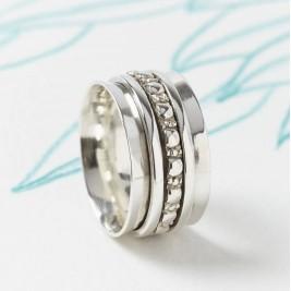 Maharani Silver Spinning Ring