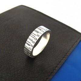 Medium Silver Barcode Ring