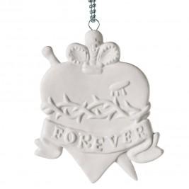 Memorabilia Porcelain Heart Charm