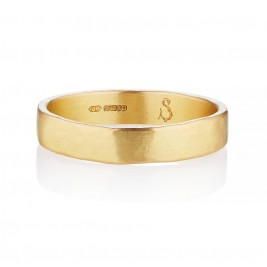 Loki Mens Fairtrade 18ct Gold Wedding Ring
