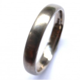 Mens 18ct White Gold Wedding Ring