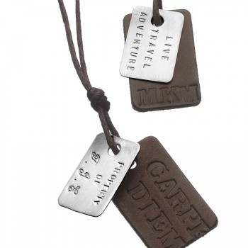 Personalised Mens Dog Tag Necklace