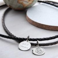 Mens Personalised St Christopher Medal Necklet