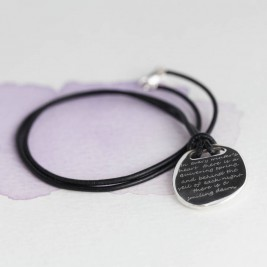 Mens Silver Quote Necklace