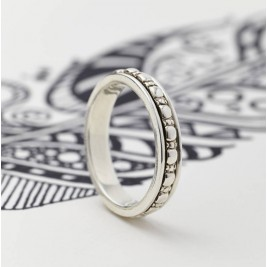 Mens Sterling Silver Spinning Ring