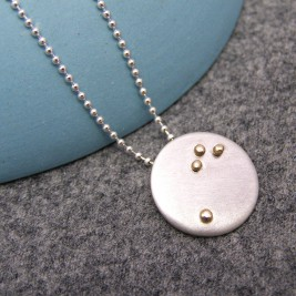 Mens Constellation Silver And Gold Pendant