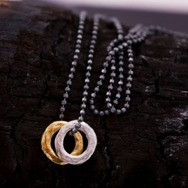 Mens Mixed Metal Eternity Necklace
