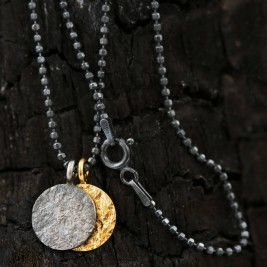 Night And Day Mixed Metal Mens Necklace