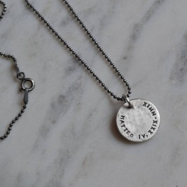 Mens Personalised Silver Pendant