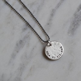 Mens Personalised Silver Pendant