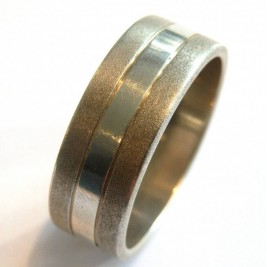 Mens Silver Band Ring