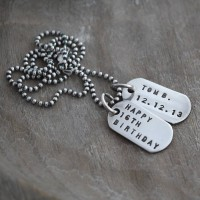 Mini Silver Identity Dog Tags